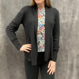 August Silk cardigan sweater black new S M L XL